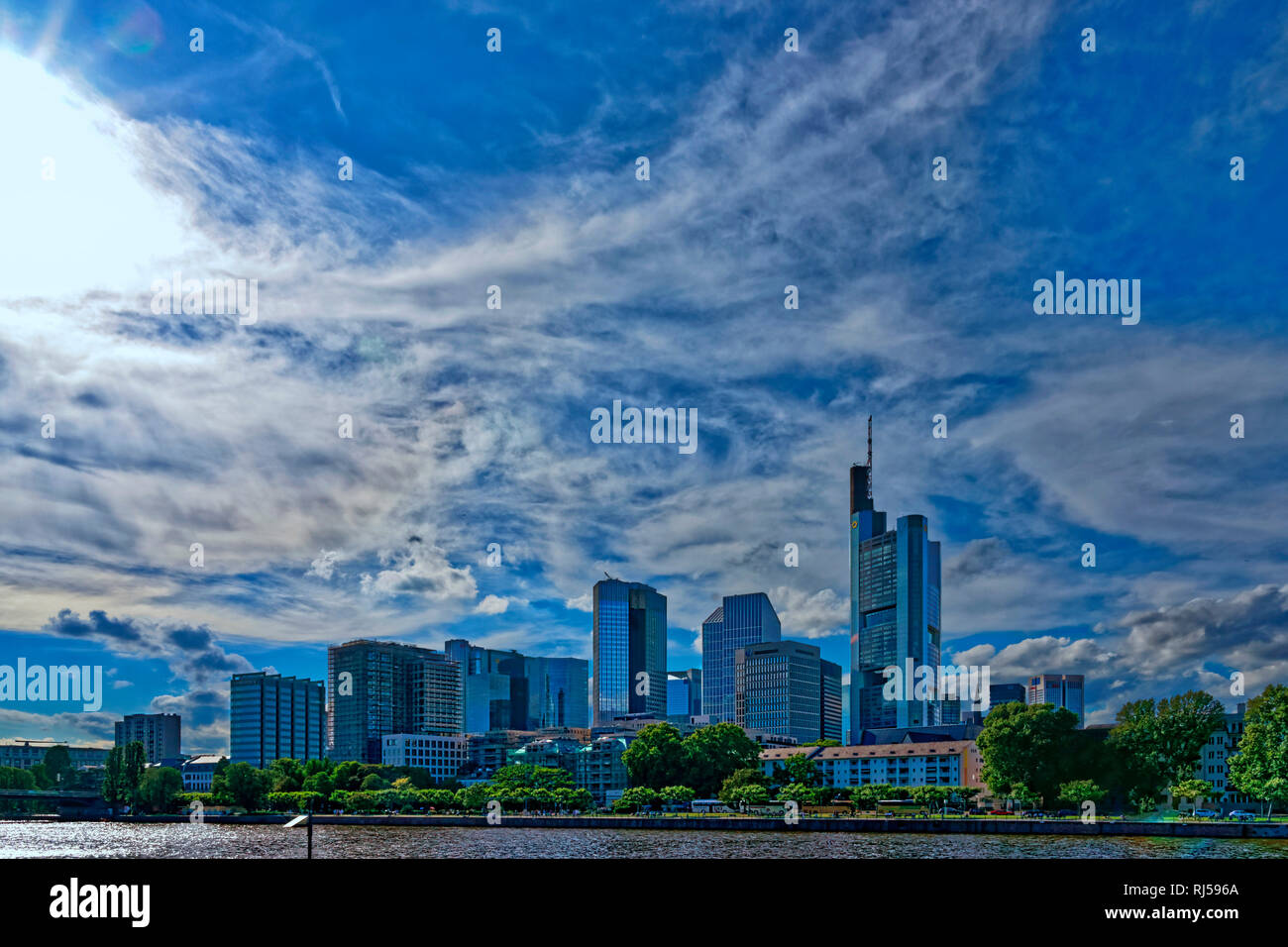 Das Bankenviertel in Frankfurt am Main, Deutschland - Stock Image