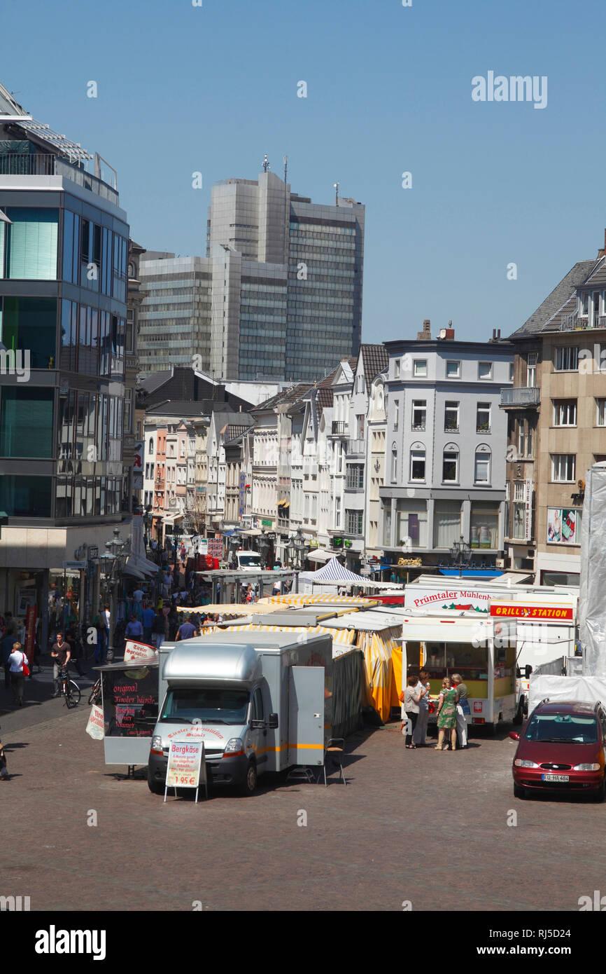 Marktplatz, Marktstände, Bonn, Nordrhein-Westfalen, Deutschland, Europa - Stock Image