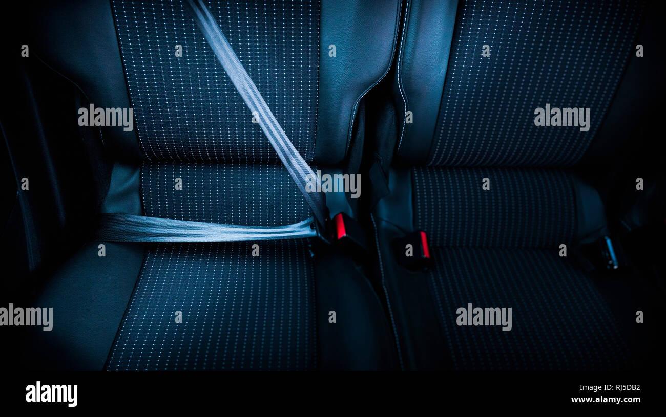 Auto, Sitze, Sicherheitsgurt - Stock Image