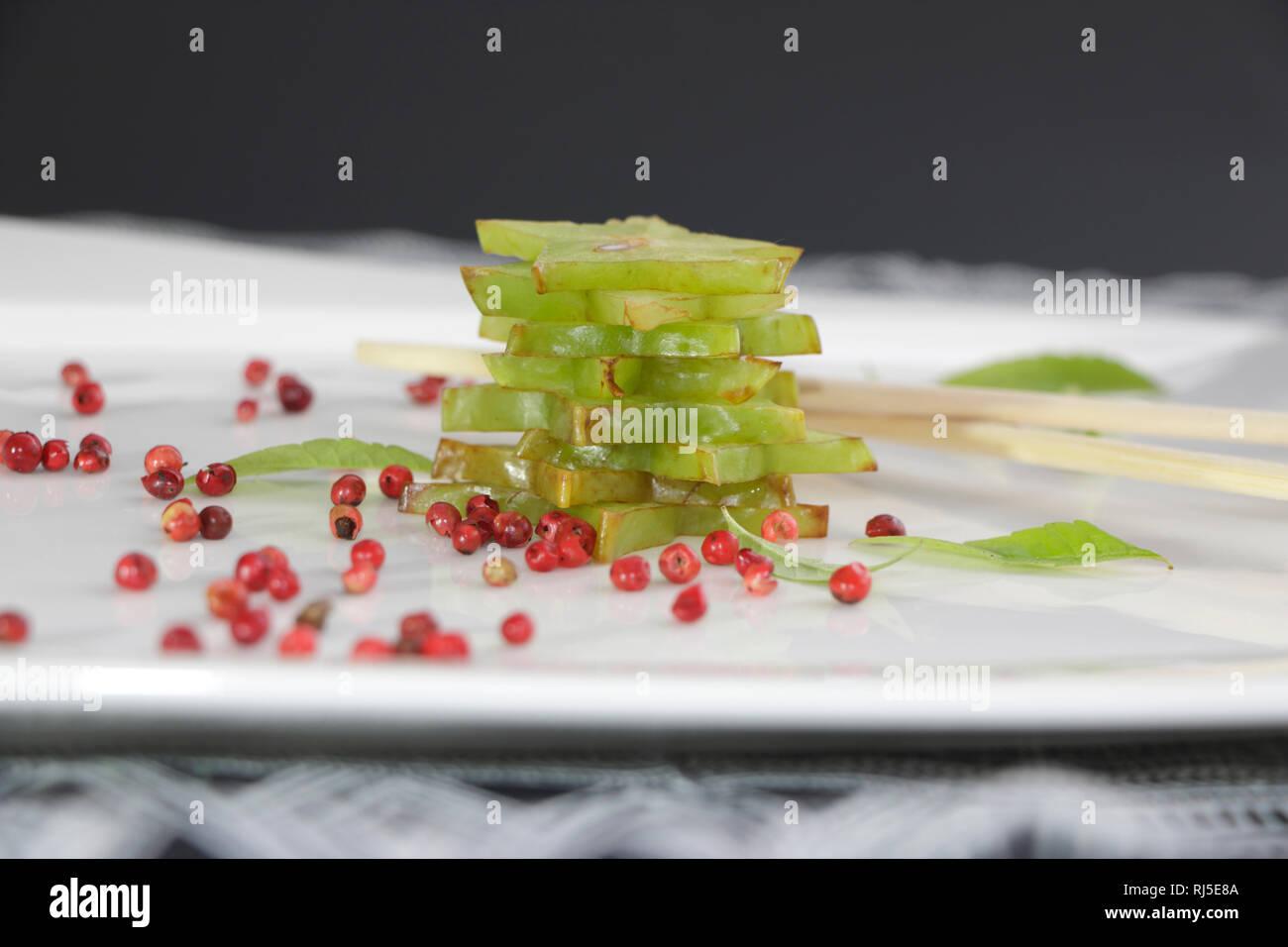 Sternfrucht in Scheiben - Stock Image