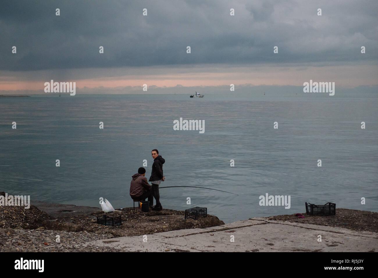 Batumi, das Las Vegas am schwarzen Meer. Georgien, Oktober 2016 - Stock Image