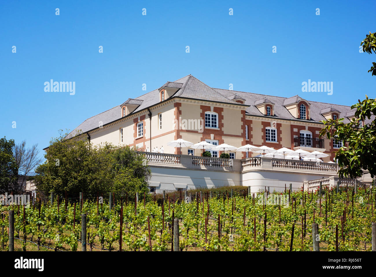 Domaine Carneros winery in Napa Valley, CA - Stock Image