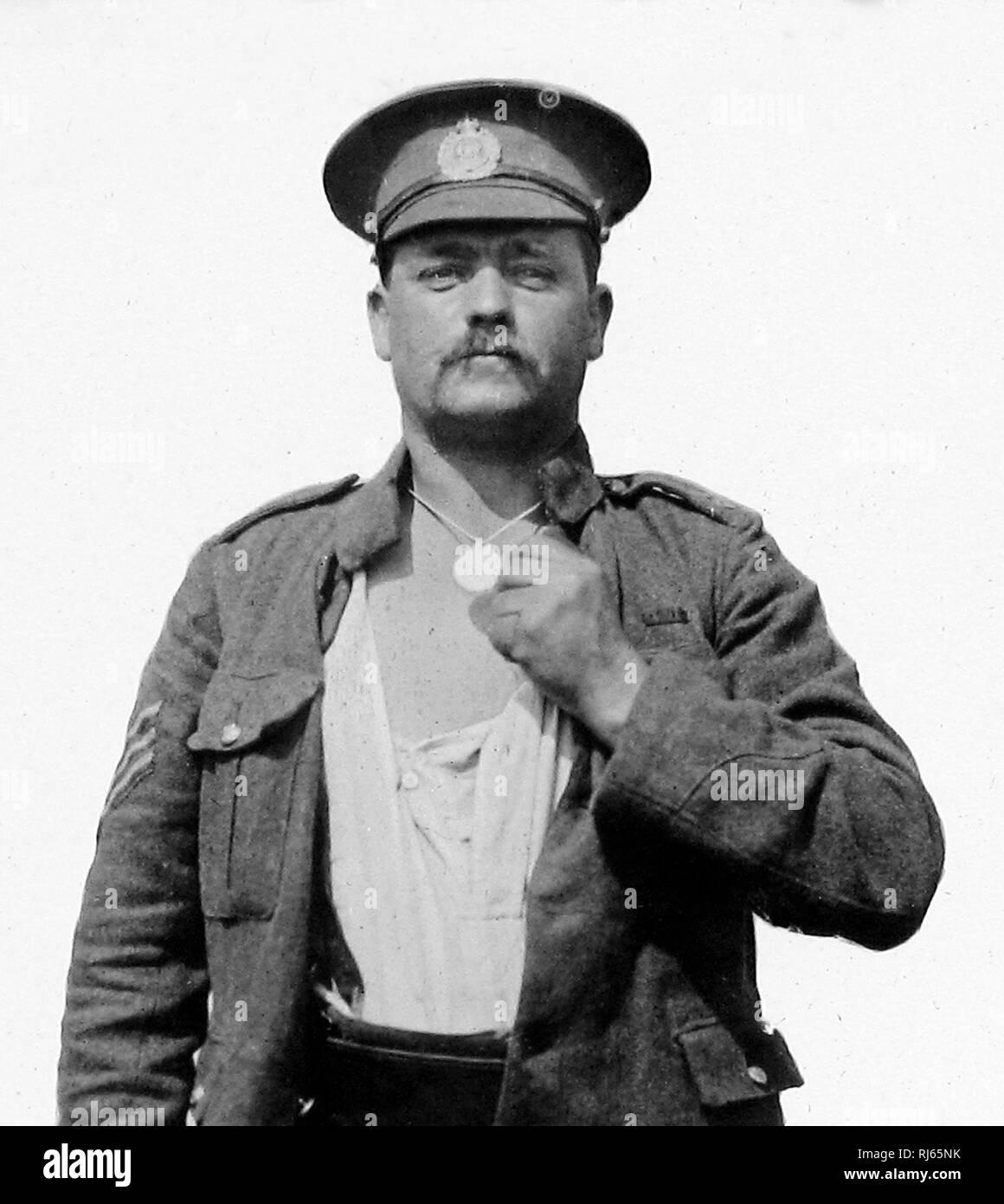 British Army identification badge WW1 - Stock Image