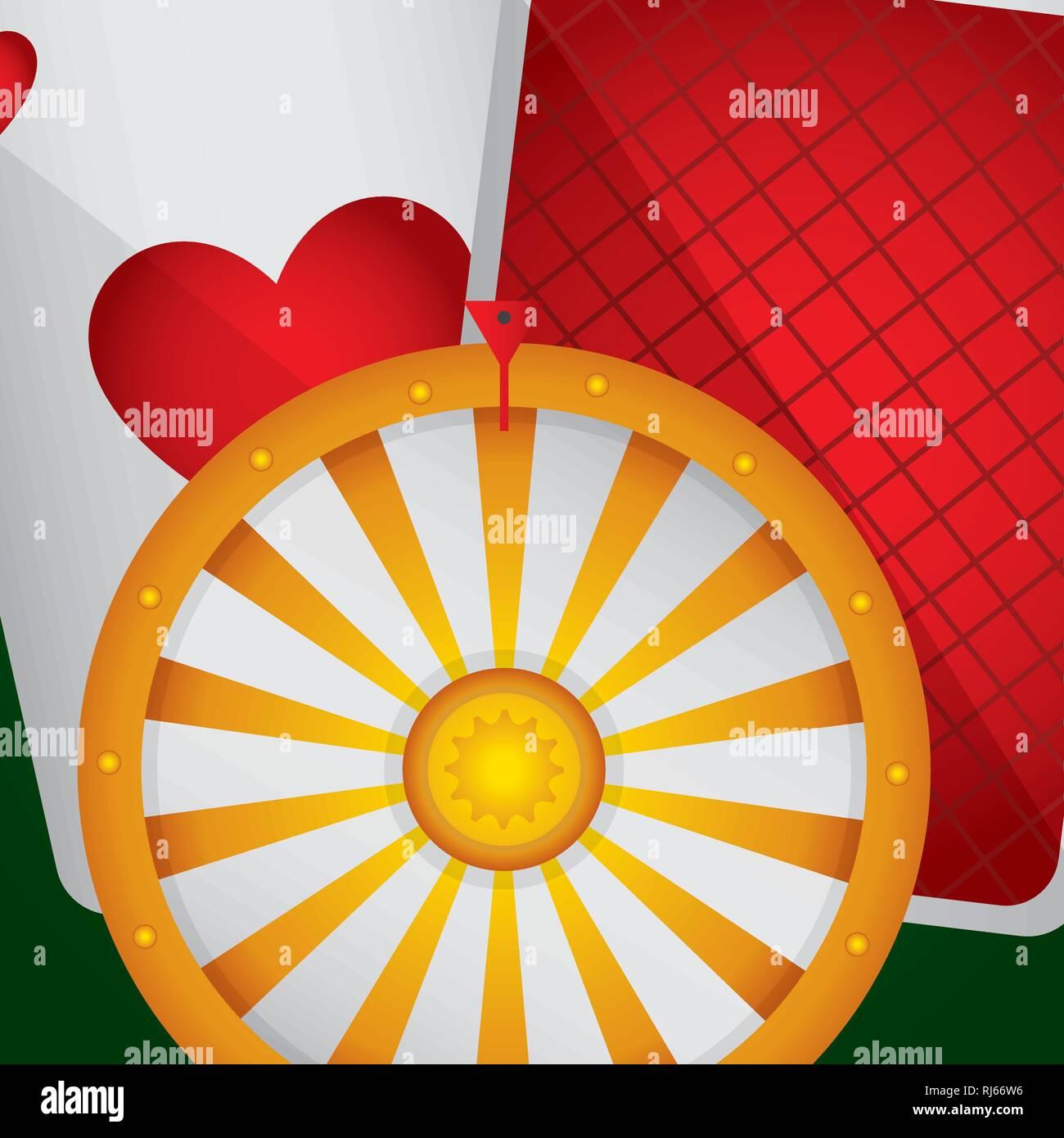 roulette fortune casino icons vector illustration design - Stock Image