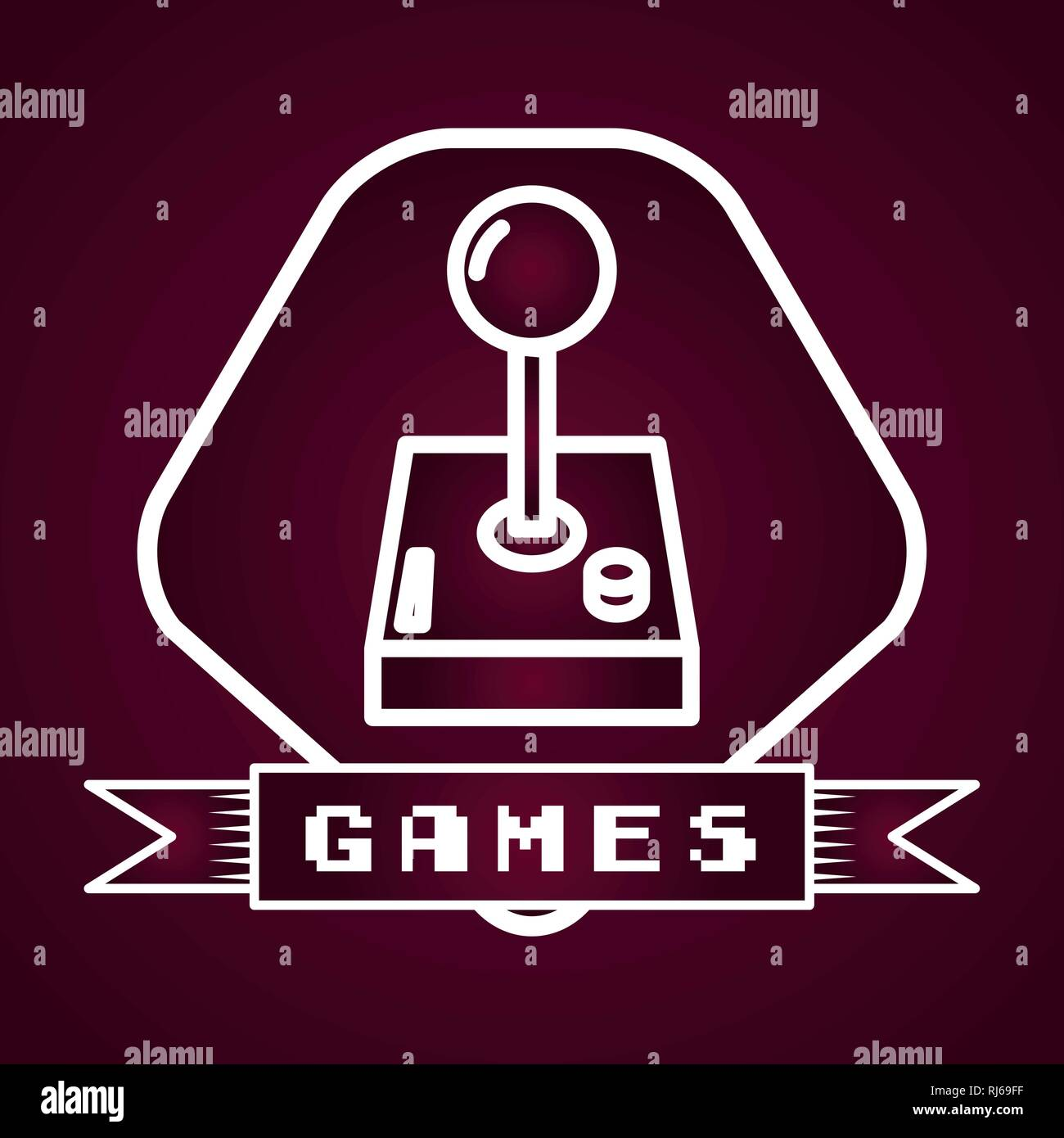 joystick video game - Stock Image