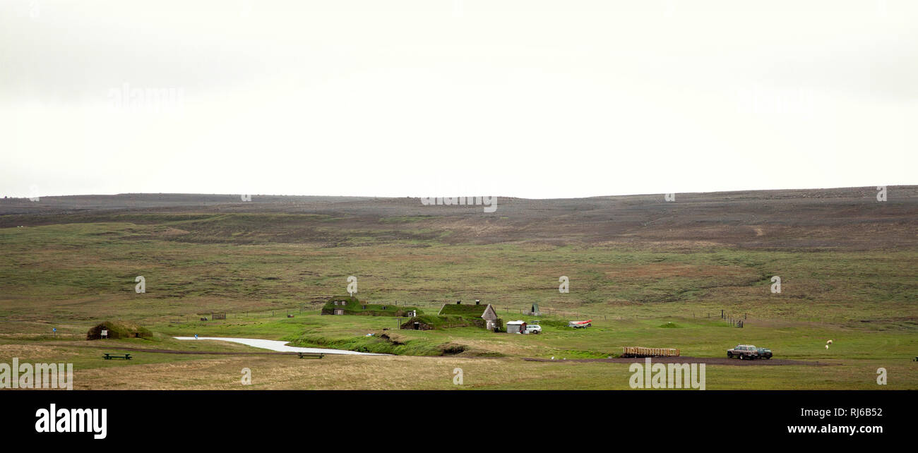 Haus, Saenautasel, Island, Landschaft Stock Photo