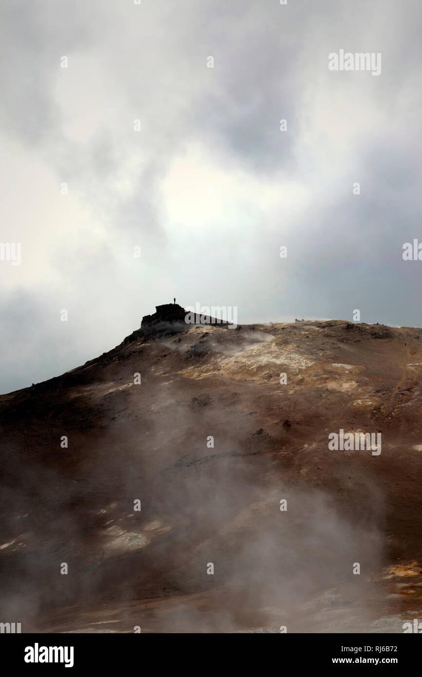 Námafjall, Berg, Vulkan, Island, Landschaft - Stock Image