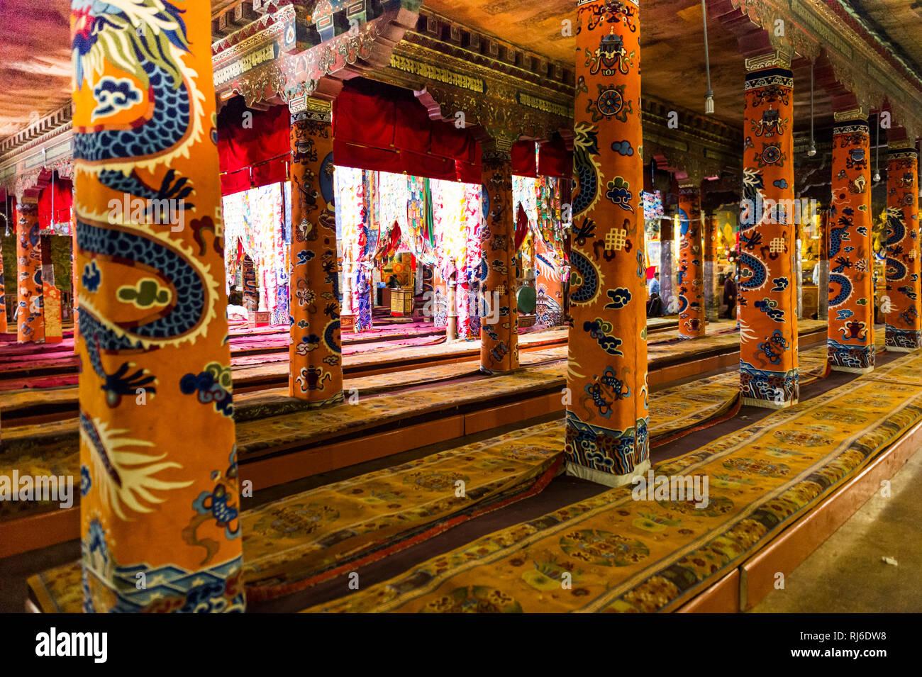 Tibet, das Kloster Sera, innen Stock Photo