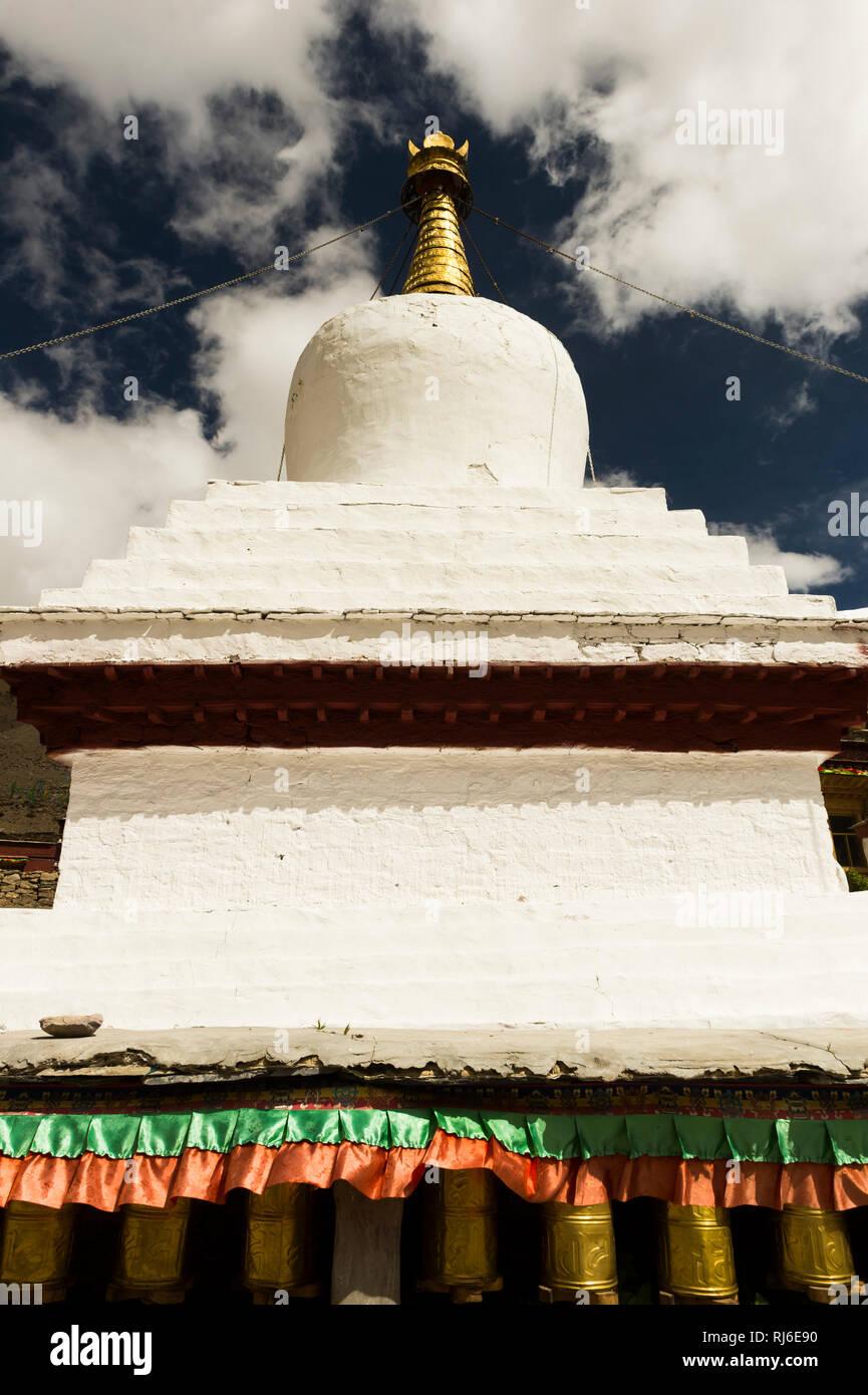 Tibet, das Kloster Rongbuk - Stock Image