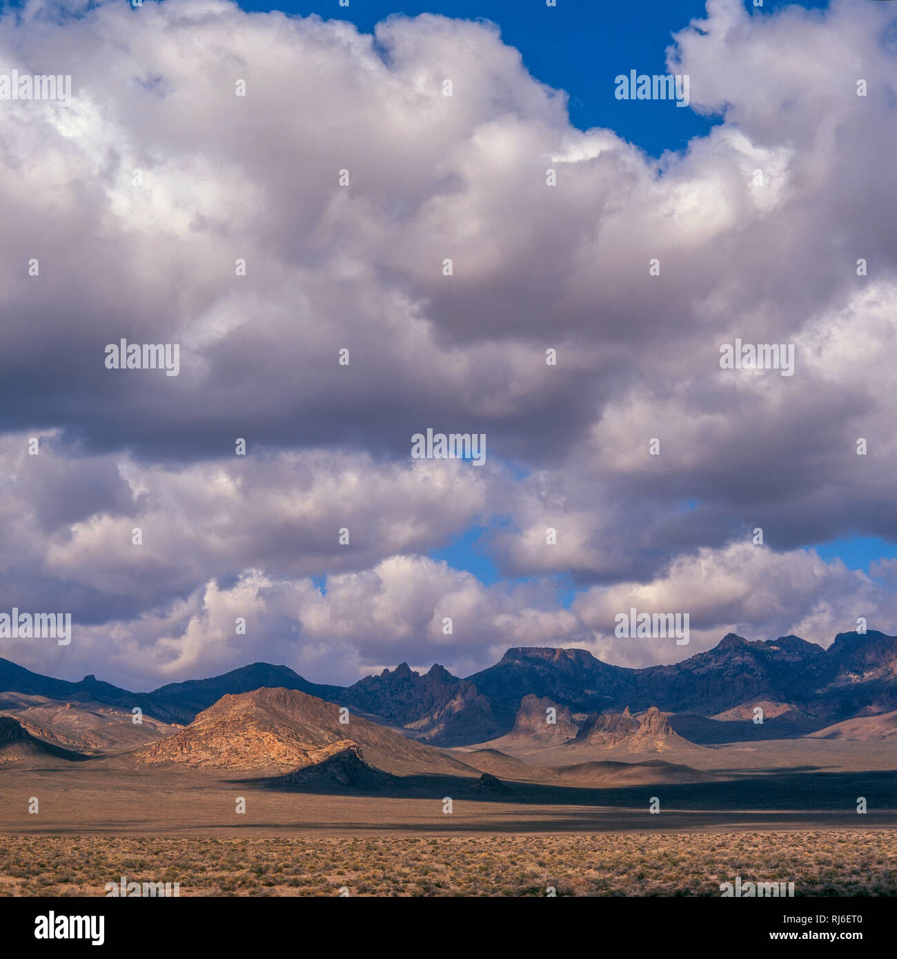 Cloud Formations, Kawich Range, Extraterrestrial Highway, Hwy. 375, Nevada - Stock Image