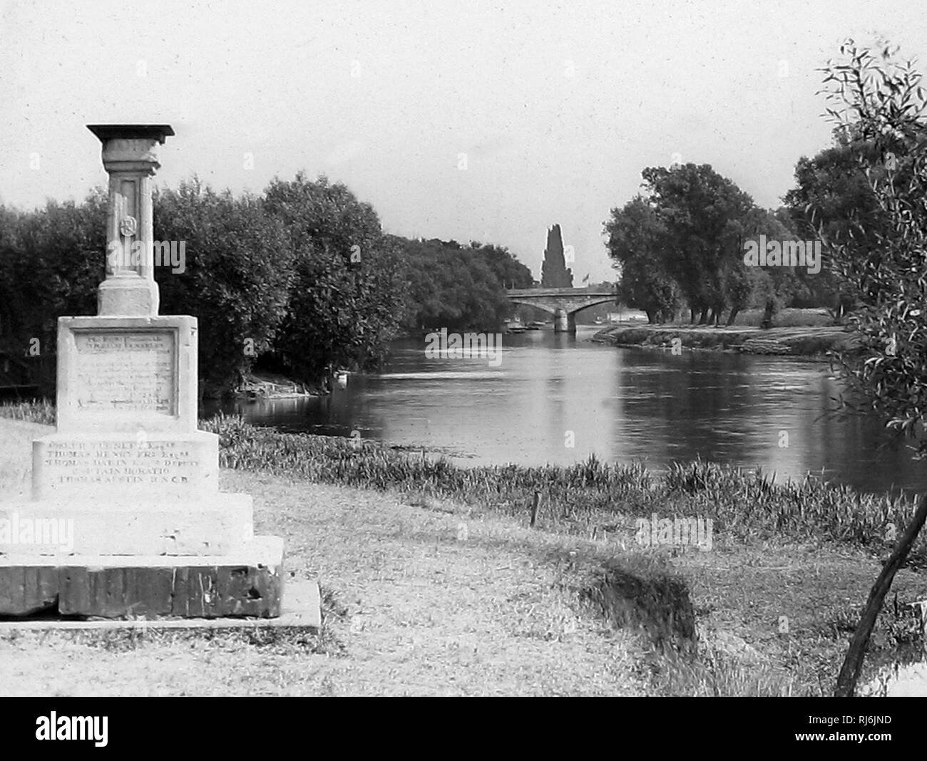 The London Stone, Staines - Stock Image