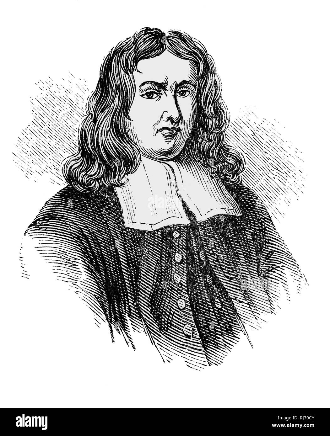 Thomas Sydenham (1624-1689) was an English physician. He was the author of Observationes Medicae which became a standard textbook of medicine for two centuries so that he became known as 'The English Hippocrates'. Among his many achievements was the discovery of a disease, Sydenham's Chorea, also known as St Vitus Dance. - Stock Image