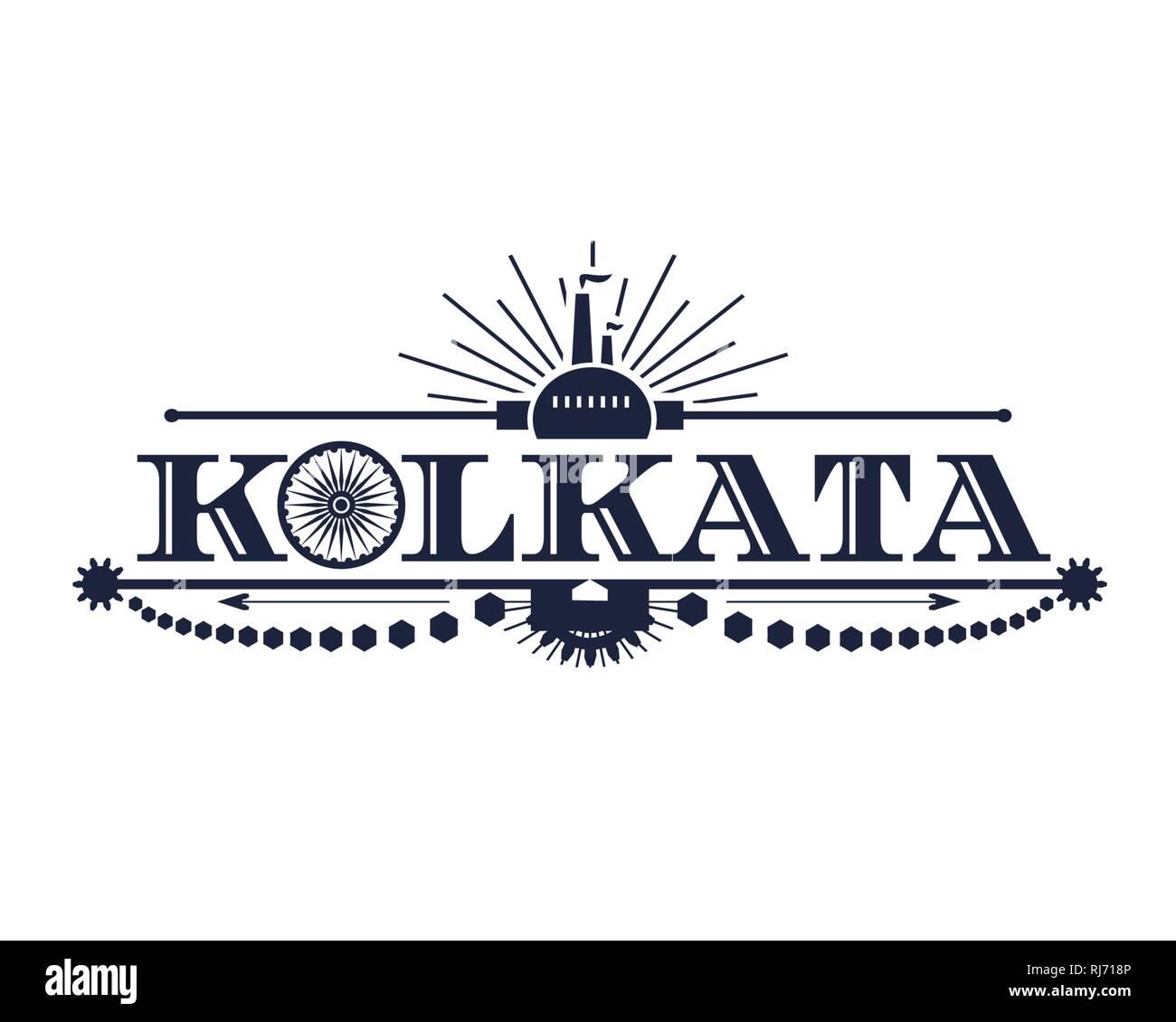 Kolkata city name - Stock Vector