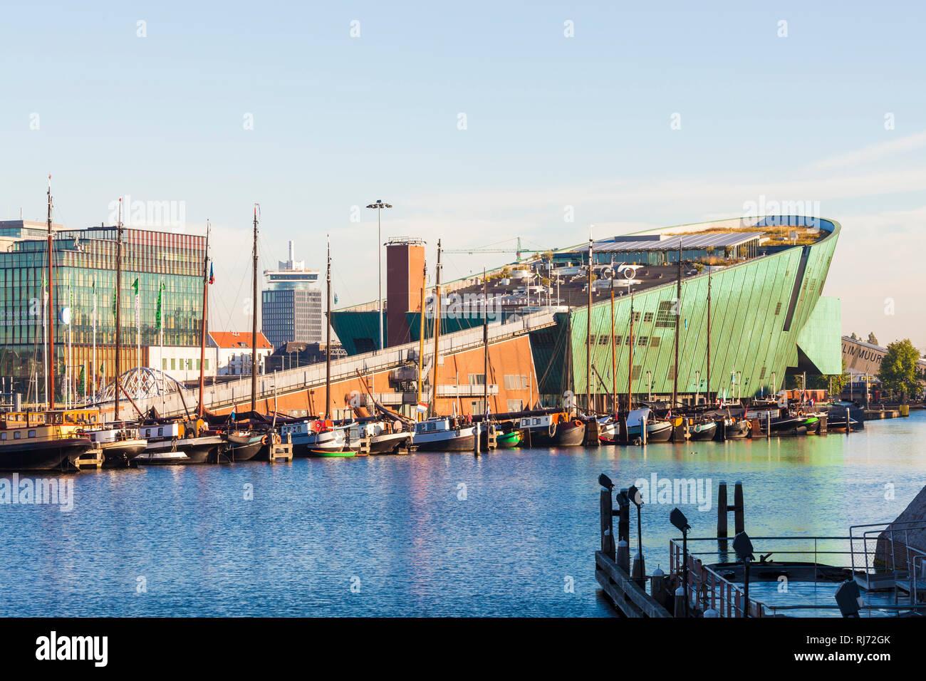 Niederlande, Amsterdam, Nemo, Technologie-Museum für Kinder, Wissenschaftsmuseum, Museum, Architekt Renzo Piano - Stock Image