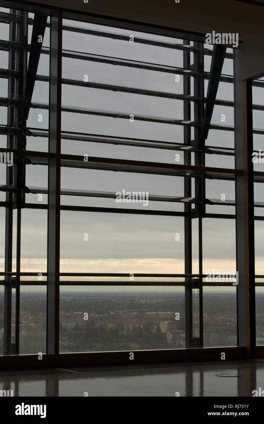 Innenaufnahme, Fenster, Stadtansicht, Stock Photo