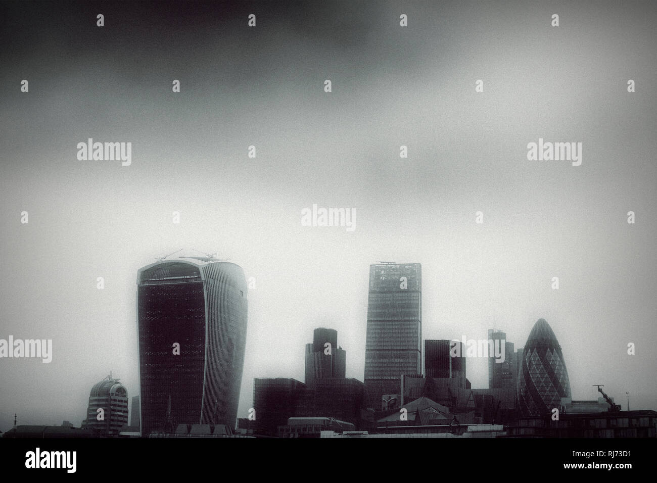 Skyline des Finanzdistriktes der City of London, - Stock Image