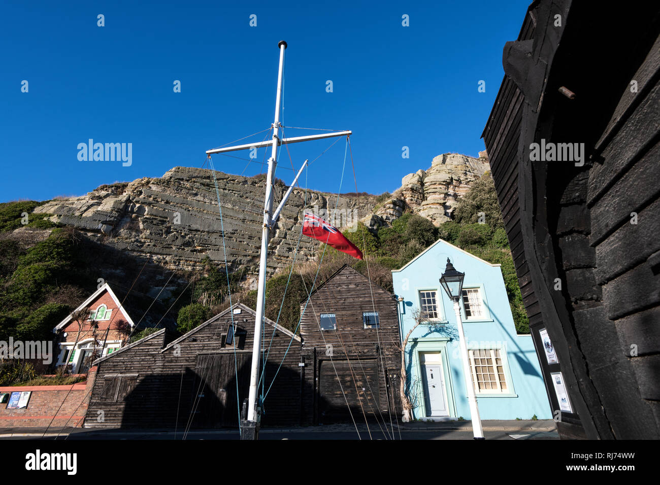 Hastings Open Air Fisherman's Museum, East Sussex, England - Stock Image