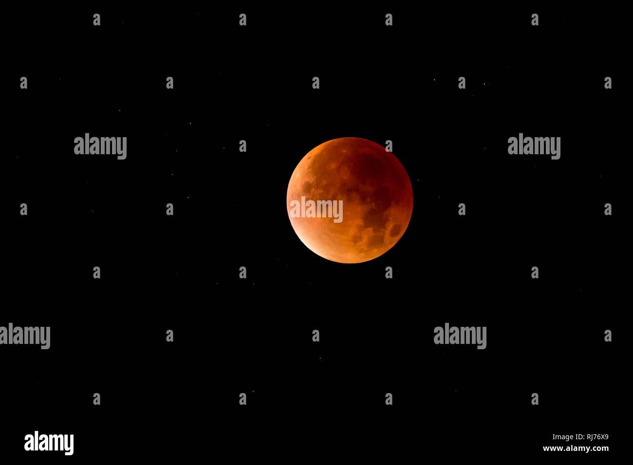totale Mondfinsternis am 28. September 2015 - Stock Image
