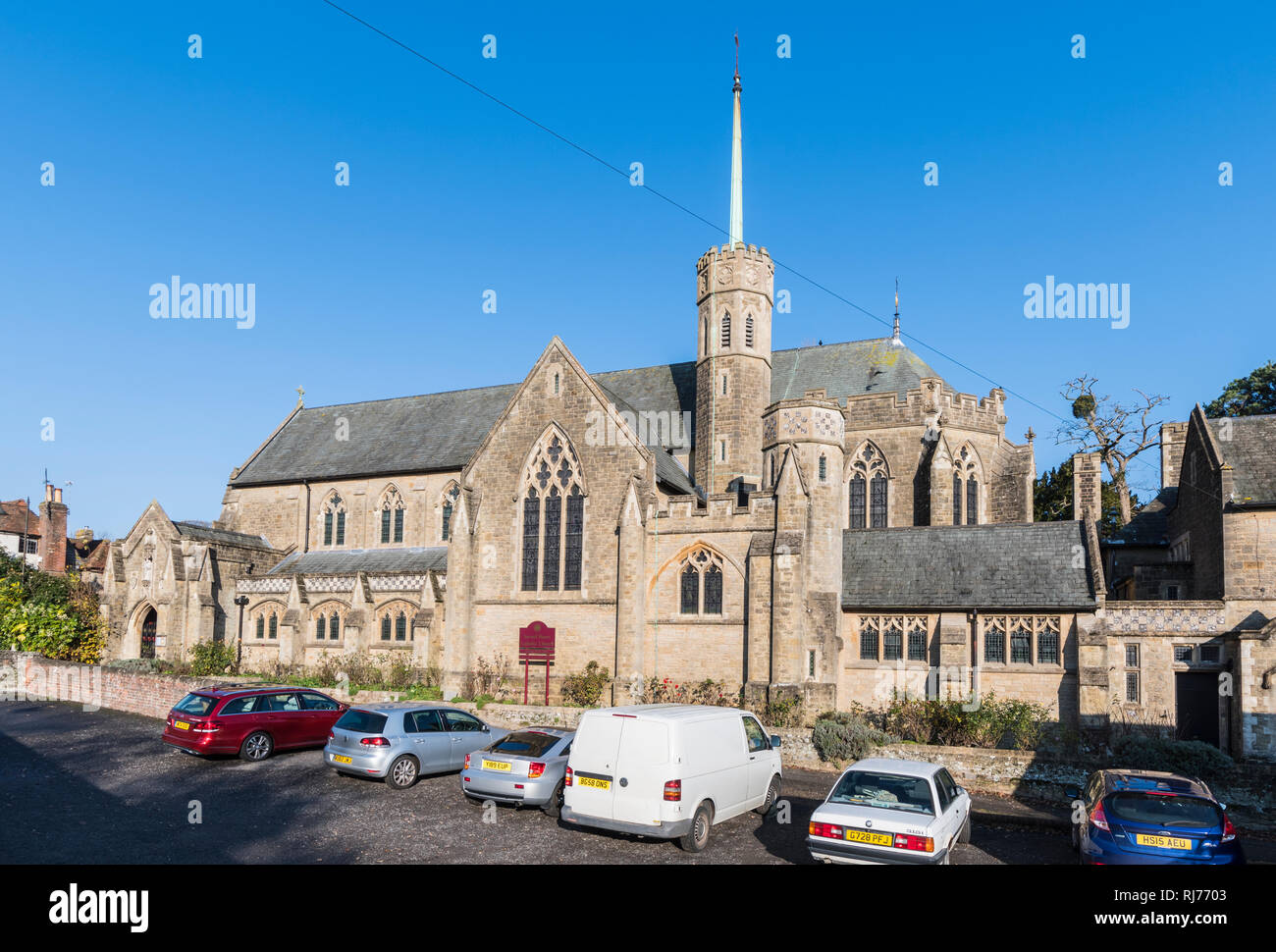 The Sacred Heart Church, a Roman Catholic Parish Church in Petworth, West Sussex, England, UK. - Stock Image