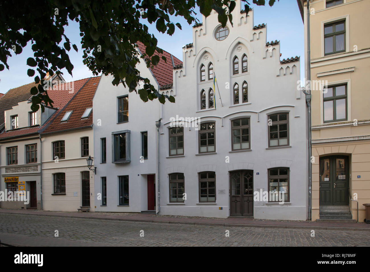 Gebäude in Wismar, Deutschland Stock Photo