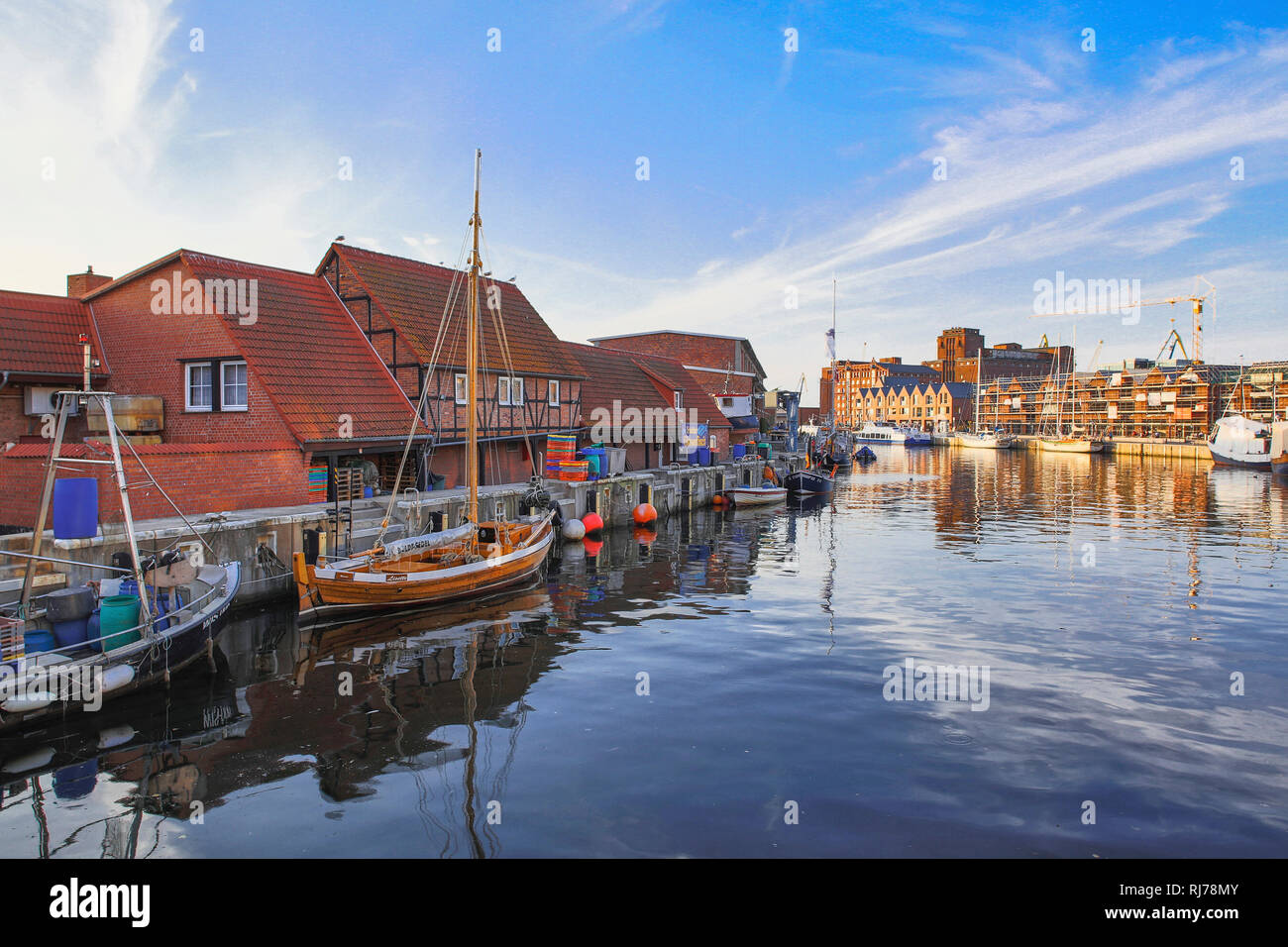 Hafen in Wismar - Stock Image