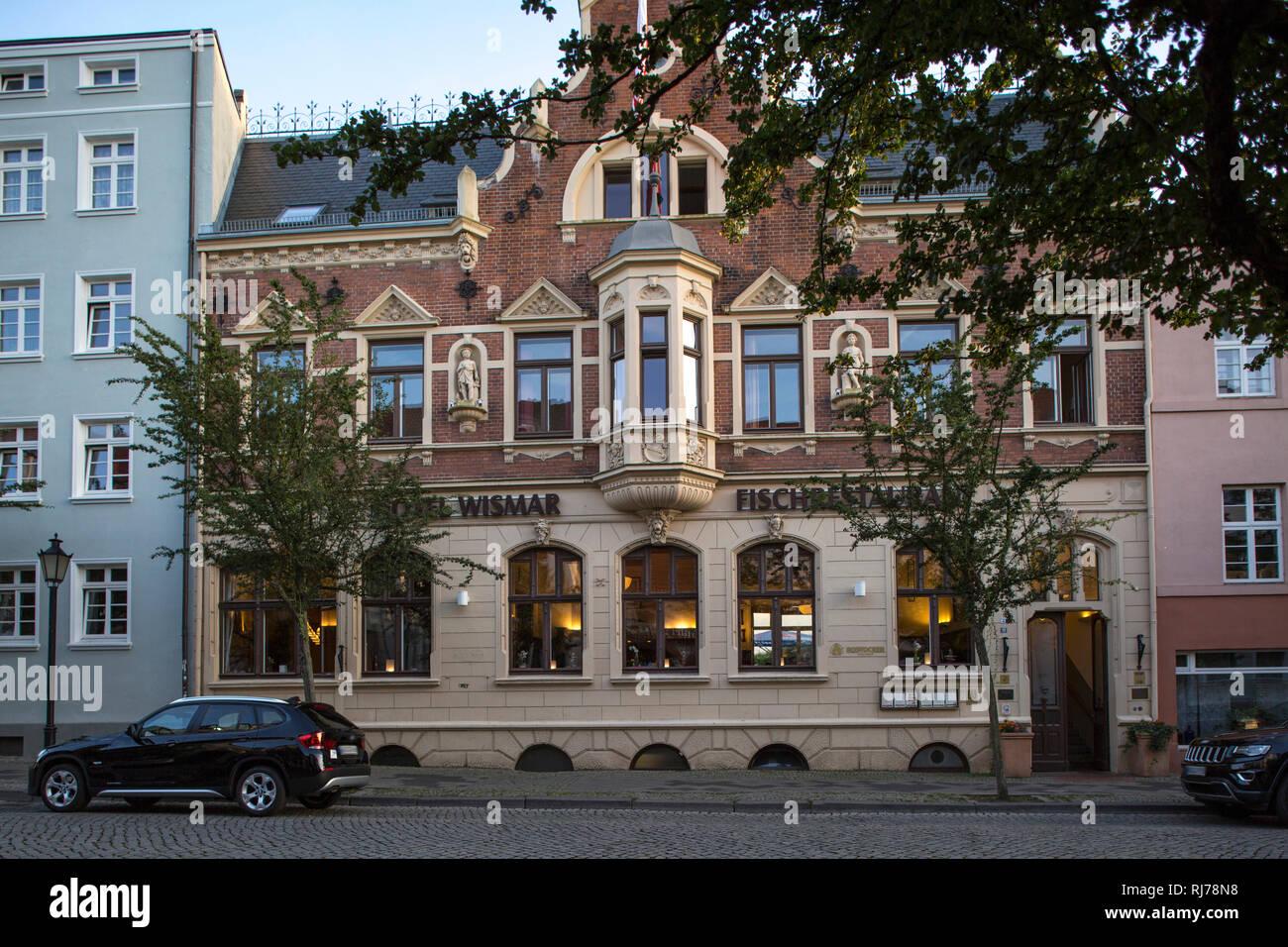 Hotel 'Wismar', Fischrestaurant in Wismar, Deutschland - Stock Image