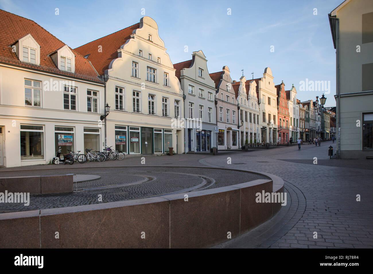 Krämerstraße in Wismar, Deutschland - Stock Image