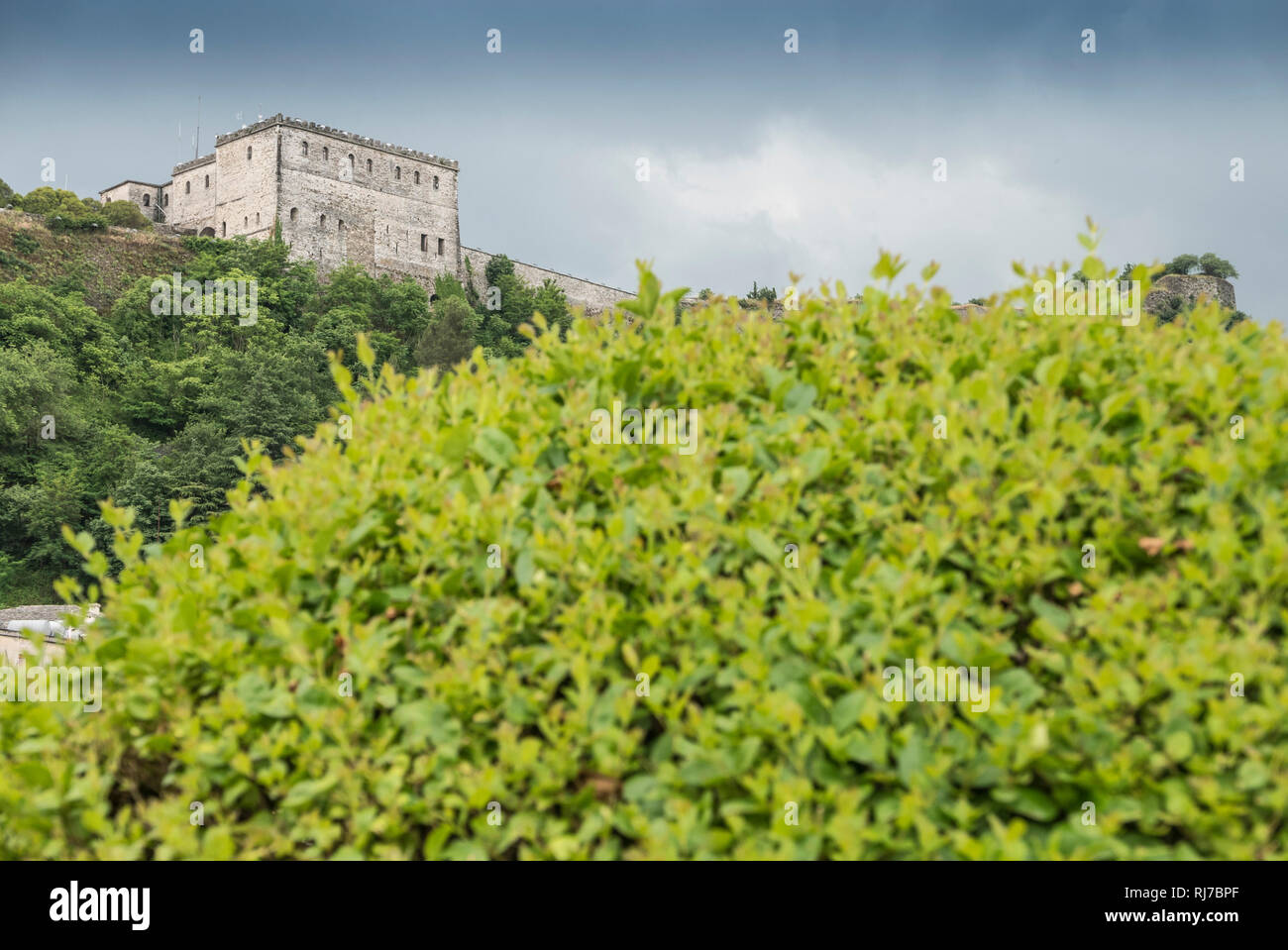 Albanien, Balkanhalbinsel, Südosteuropa, Republik Albanien, Gjirokastra, UNESCO-Welterbe, Qarks, Altstadt, - Stock Image