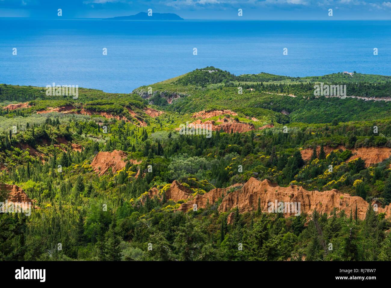 Albanien, Balkanhalbinsel, Südosteuropa, Republik Albanien, Gjipe Schlucht bei Vlore - Stock Image