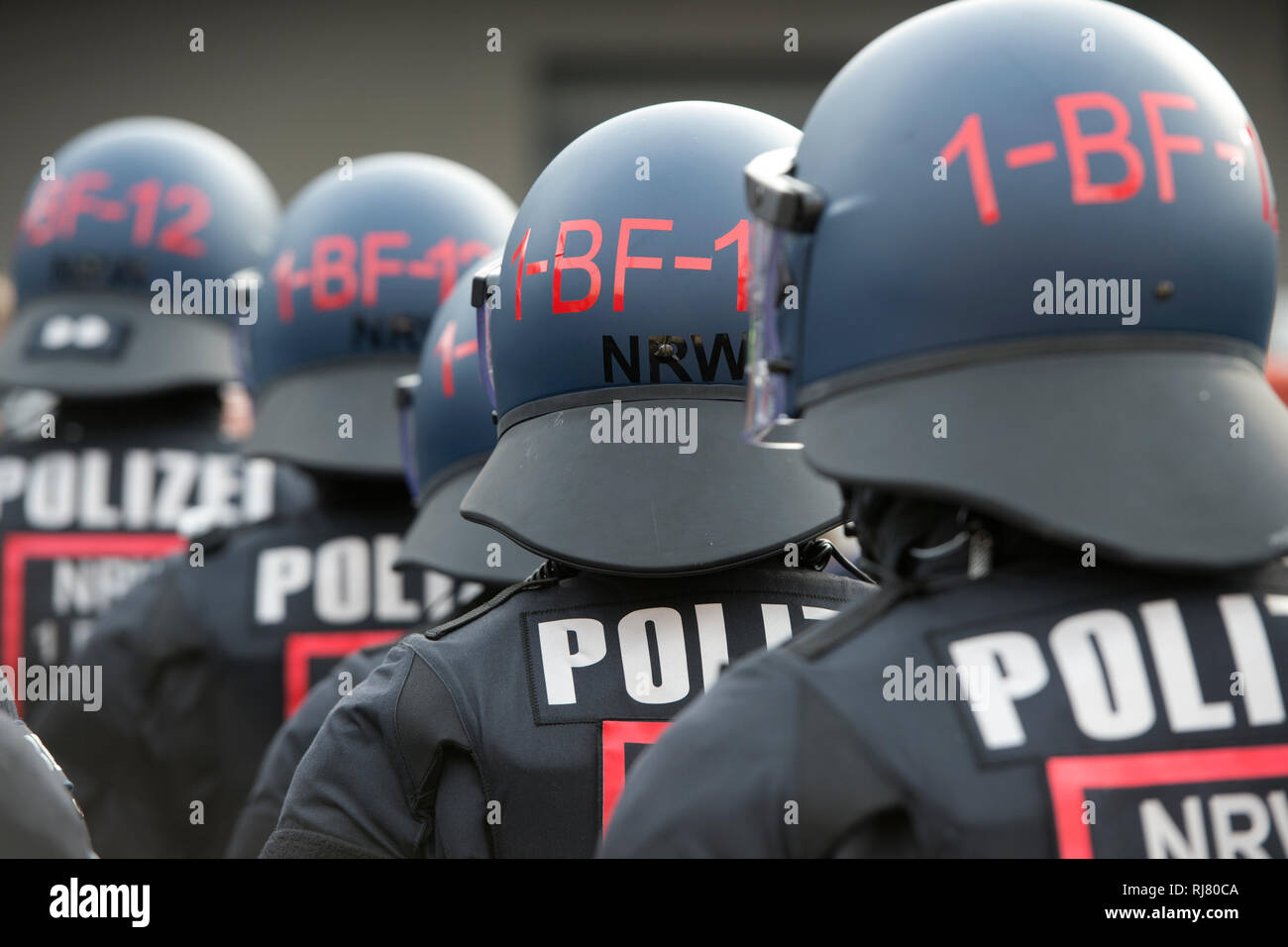 Bochum, Deutschland  04th Feb, 2019  Police officers of the