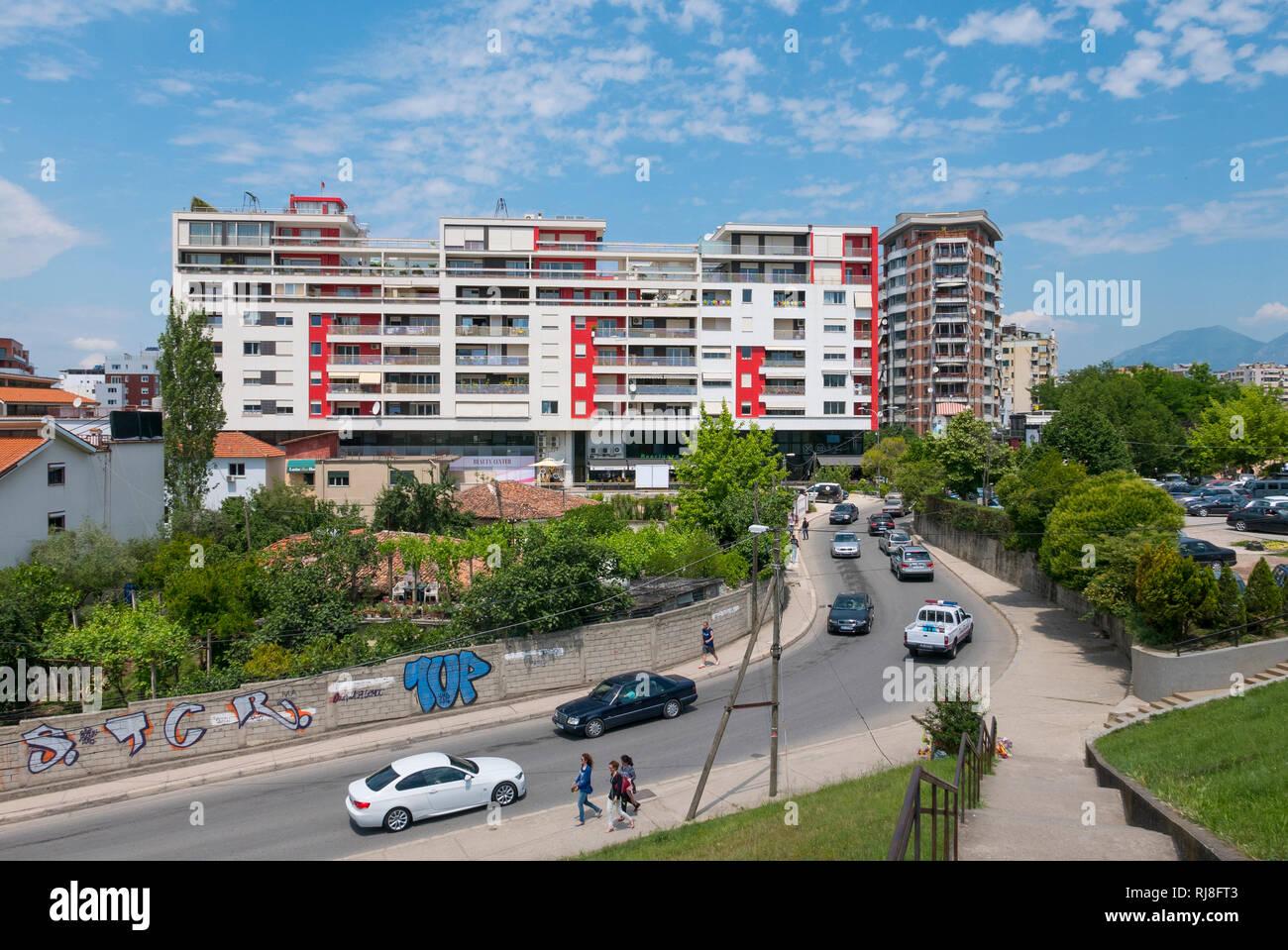 Albanien, Balkanhalbinsel, Südosteuropa, Republik Albanien, Hauptstadt Tirana, Ex-Block Blloku Ish-Blloku - Stock Image