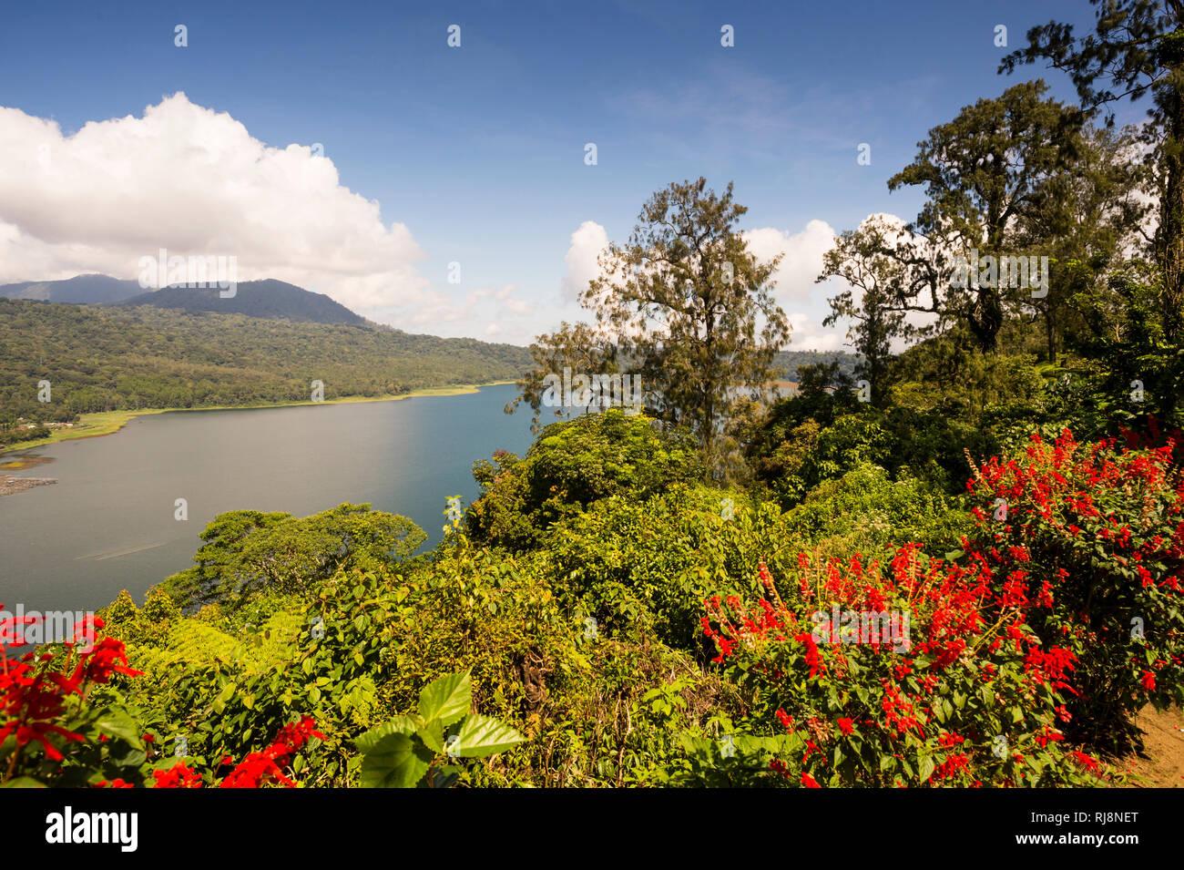der See Danau Buyan Stock Photo