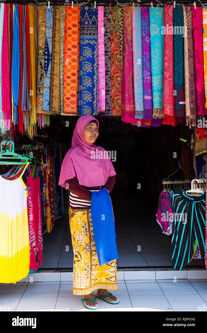 der Markt von Candi Kuning - Stock Image