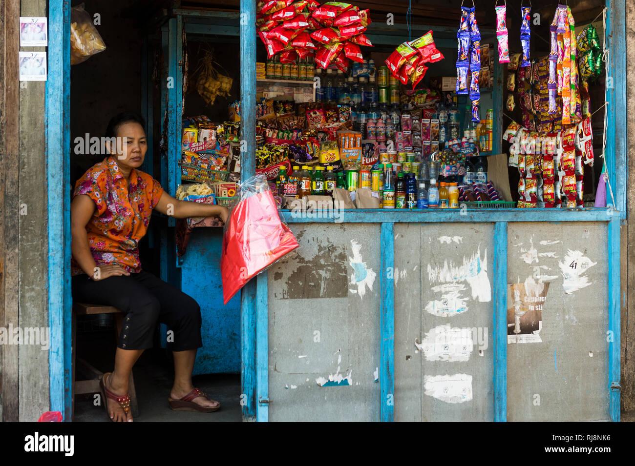 der Markt in Amlapura - Stock Image