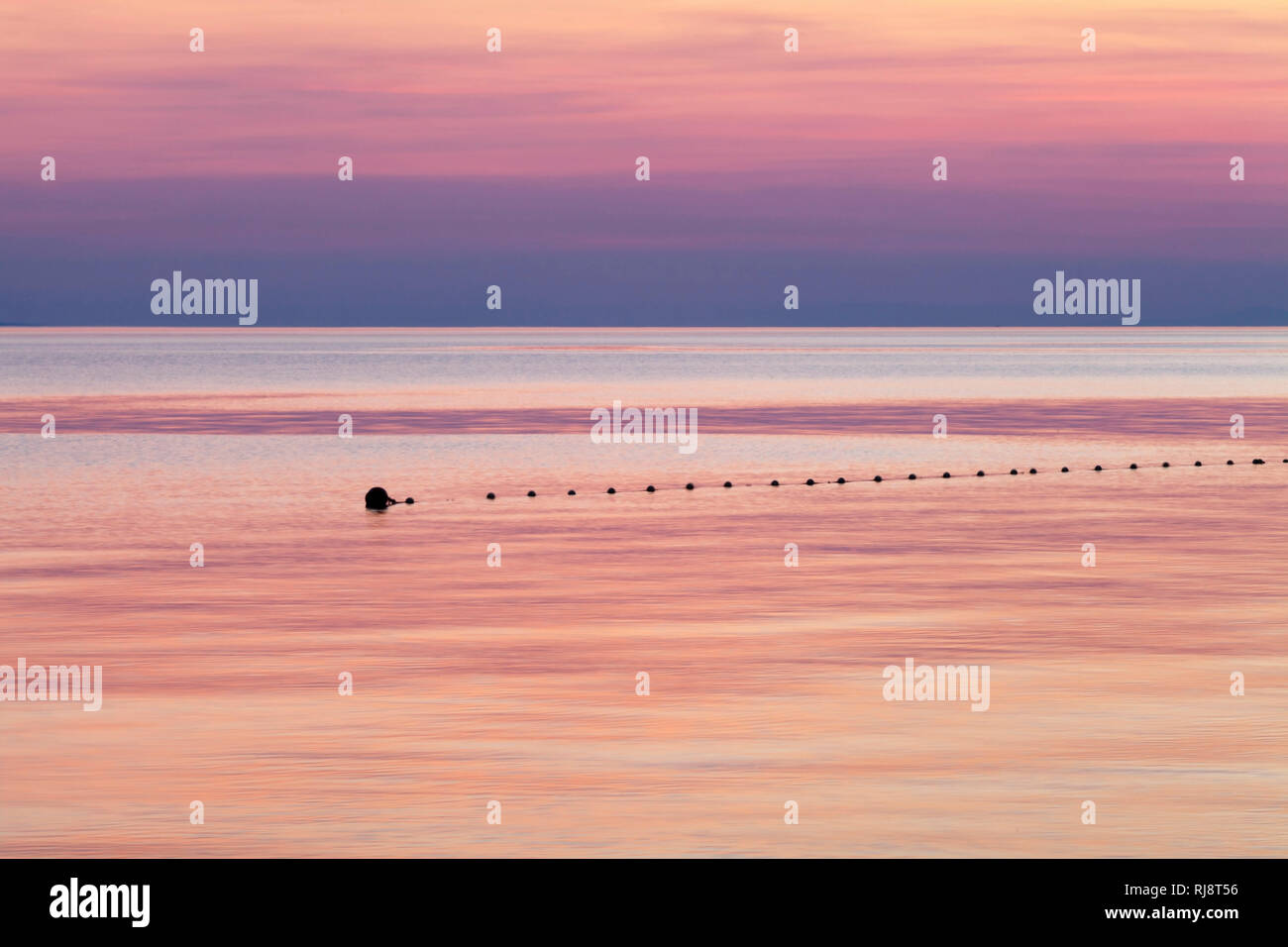 Küstenlandschaft bei Sonnenuntergang, Makarska Riviera, Dalmatien, Kroatien Stock Photo
