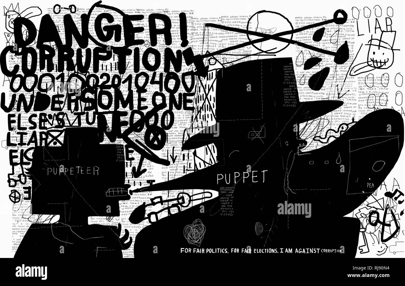 A symbolic image of a politician who says that he was ordered - Stock Vector