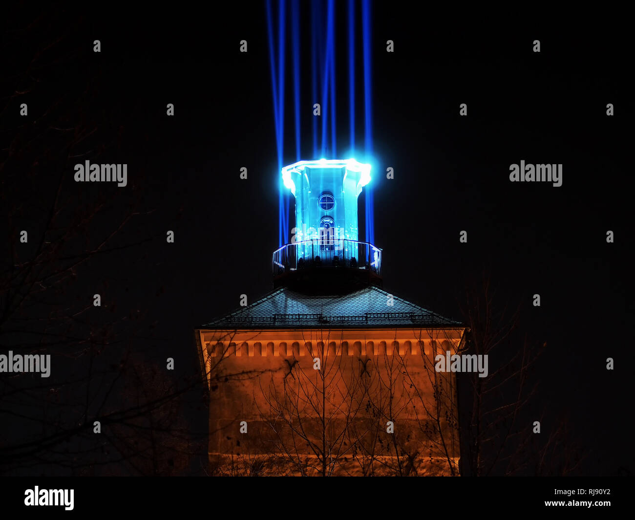 Festival of lights Zagreb: The Lighthouse, light installation at