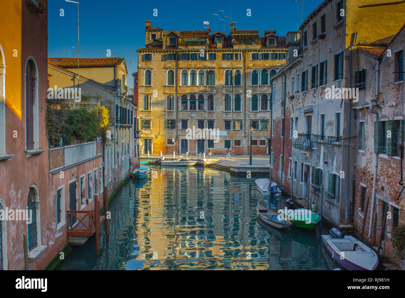 Venice view of buildings - Stock Image