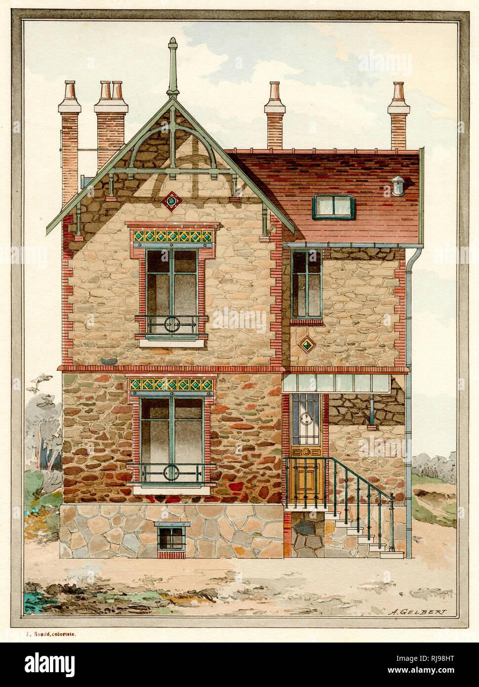 Architecte La Varenne St Hilaire a neat french villa with a few touches of art nouveau (but