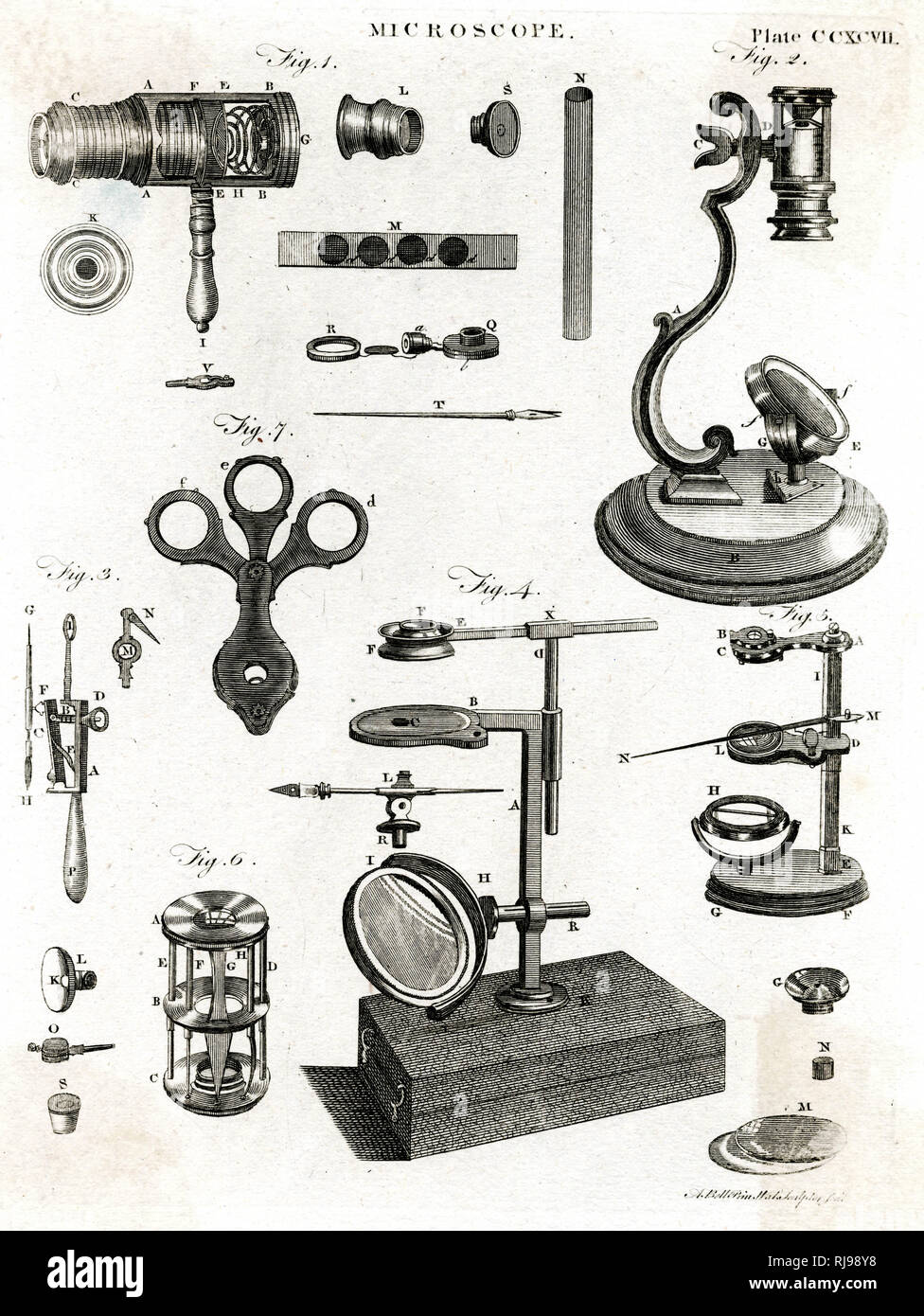 A selection of microscopes - Stock Image