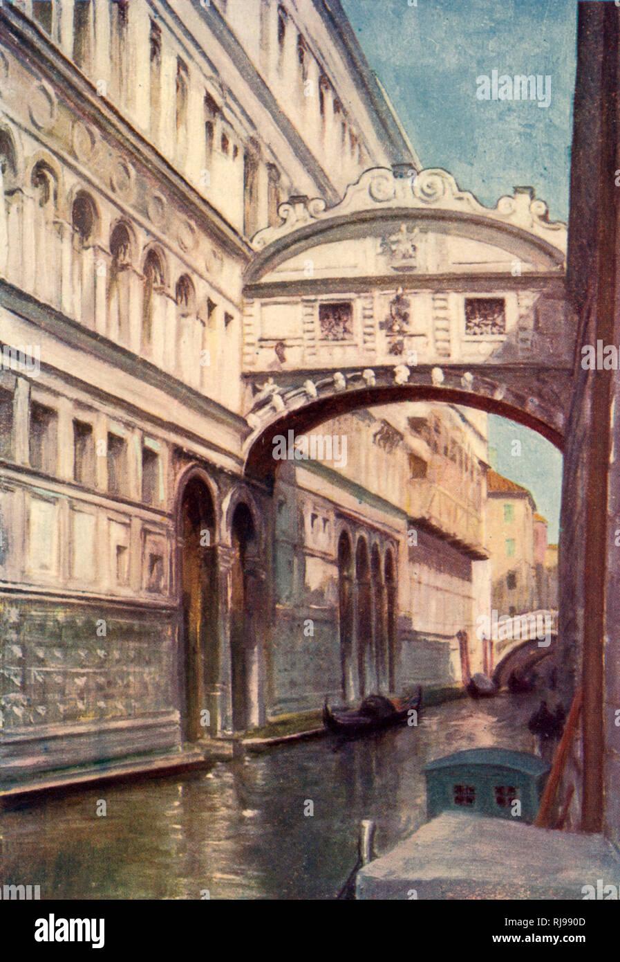 Venice: the Bridge of Sighs - Stock Image