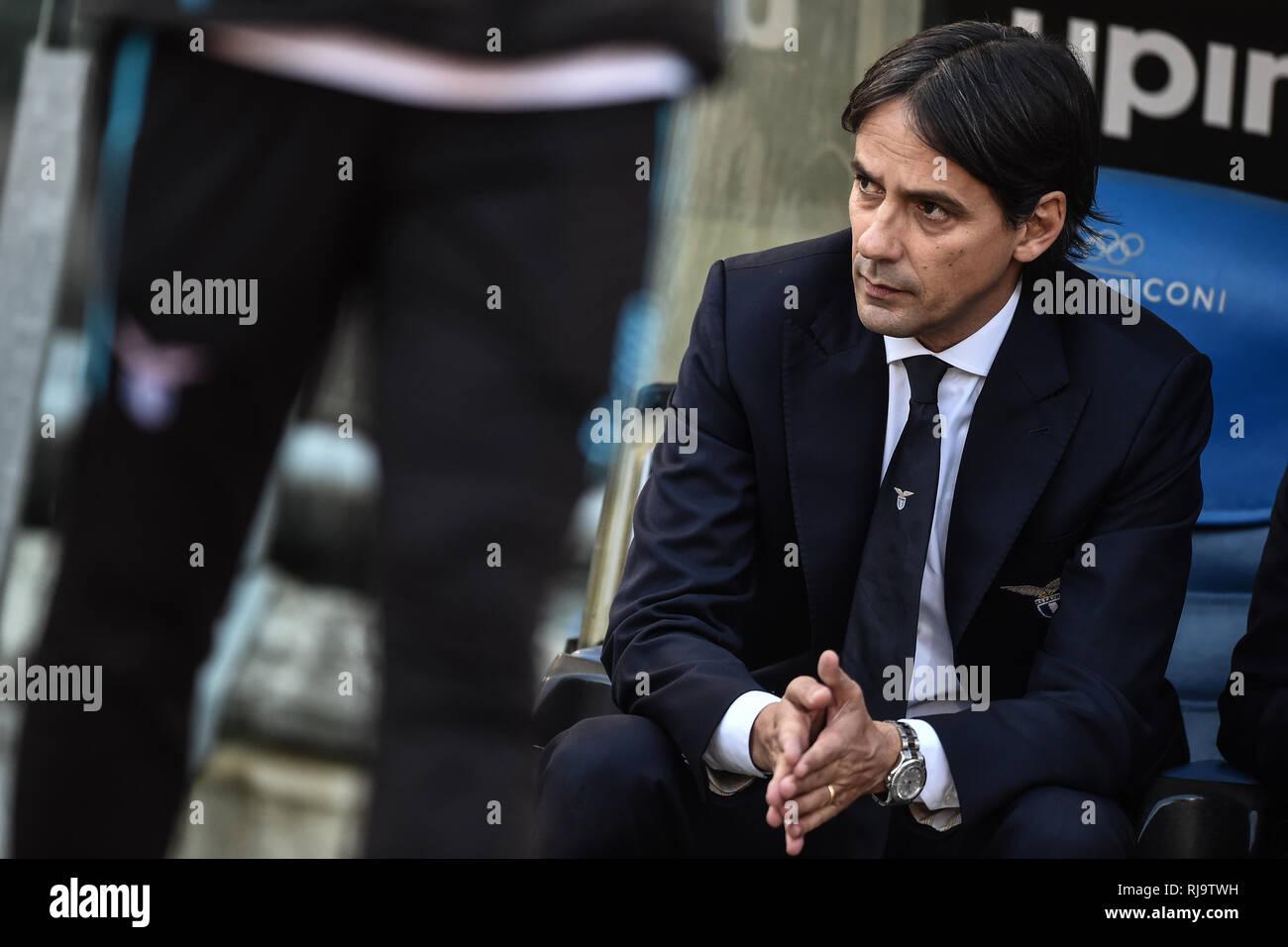 Simone Inzaghi, Lazio coach. Roma 29-12-2018 Stadio Olimpico Football Serie A 2018/2019  Lazio - Torino Foto Antonietta Baldassarre / Insidefoto Stock Photo