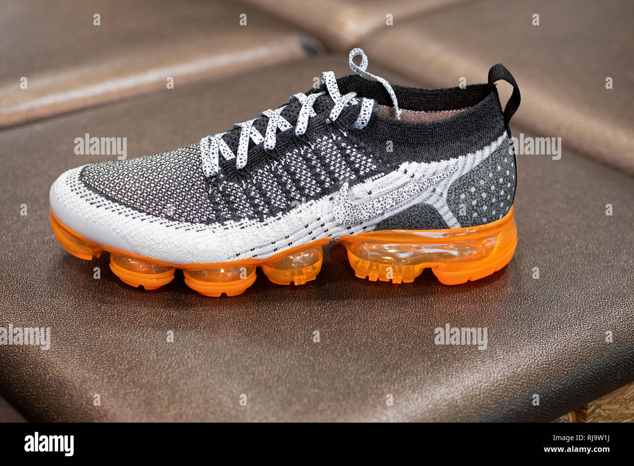 quality design 0077f e7e74 A Nike Vapormax shoe that sells for  190 a pair. At Footlocker in the Queens