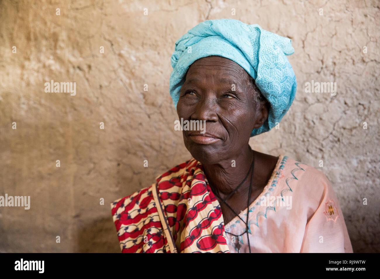 Baribsi village, Yako, Burkina Faso, 30th November 2016; Kazengou Bazengbamaric who has 30 shea trees and planted 200 shea seeds for the next generation. Stock Photo