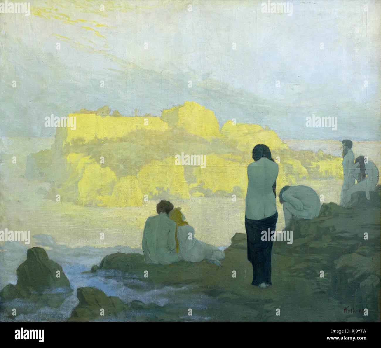 Georg Kolbe (1877-1947), The Golden Isle, 1898.  Die Goldene Insel. Alte Nationalgalerie, Berlin, Germany. - Stock Image