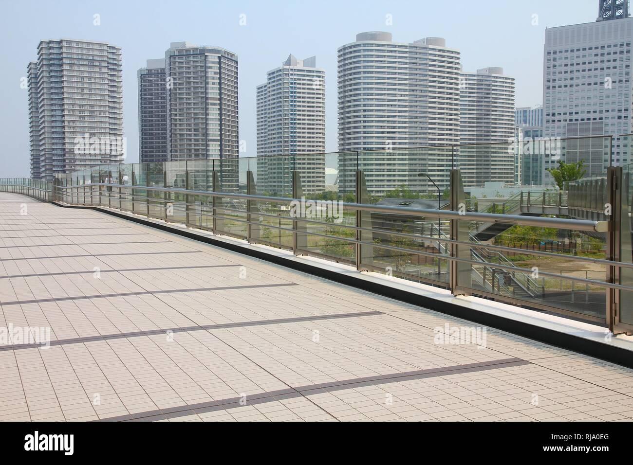 Yokohama, Japan - skyscrapers in second largest city in Japan, capital city of Kanagawa prefecture - Stock Image