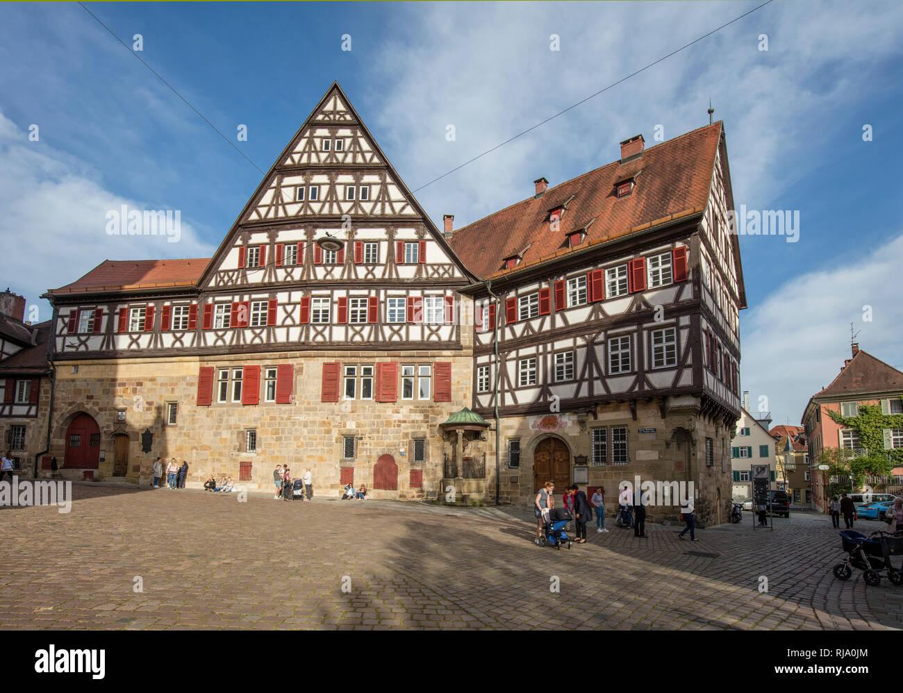 Älteste Sektkellerei Deutschlands, Altstadt Esslingen Stock Photo