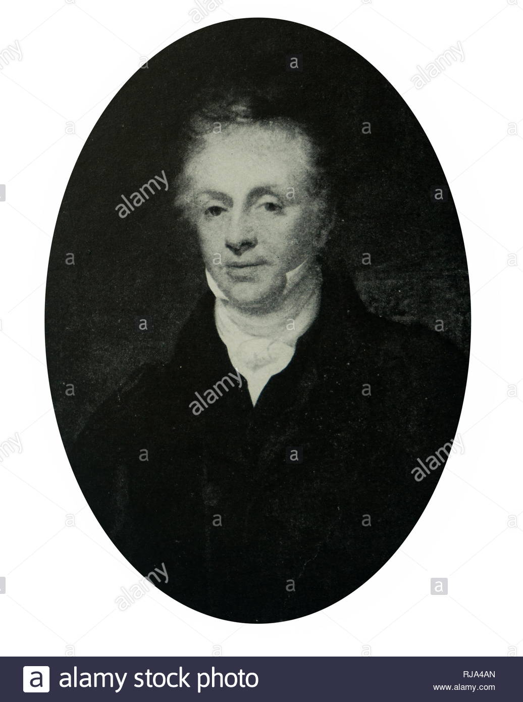 Portrait of Thomas Attwood (1783-1856) a British banker, economist, political campaigner and Member of Parliament. Dated 19th century - Stock Image