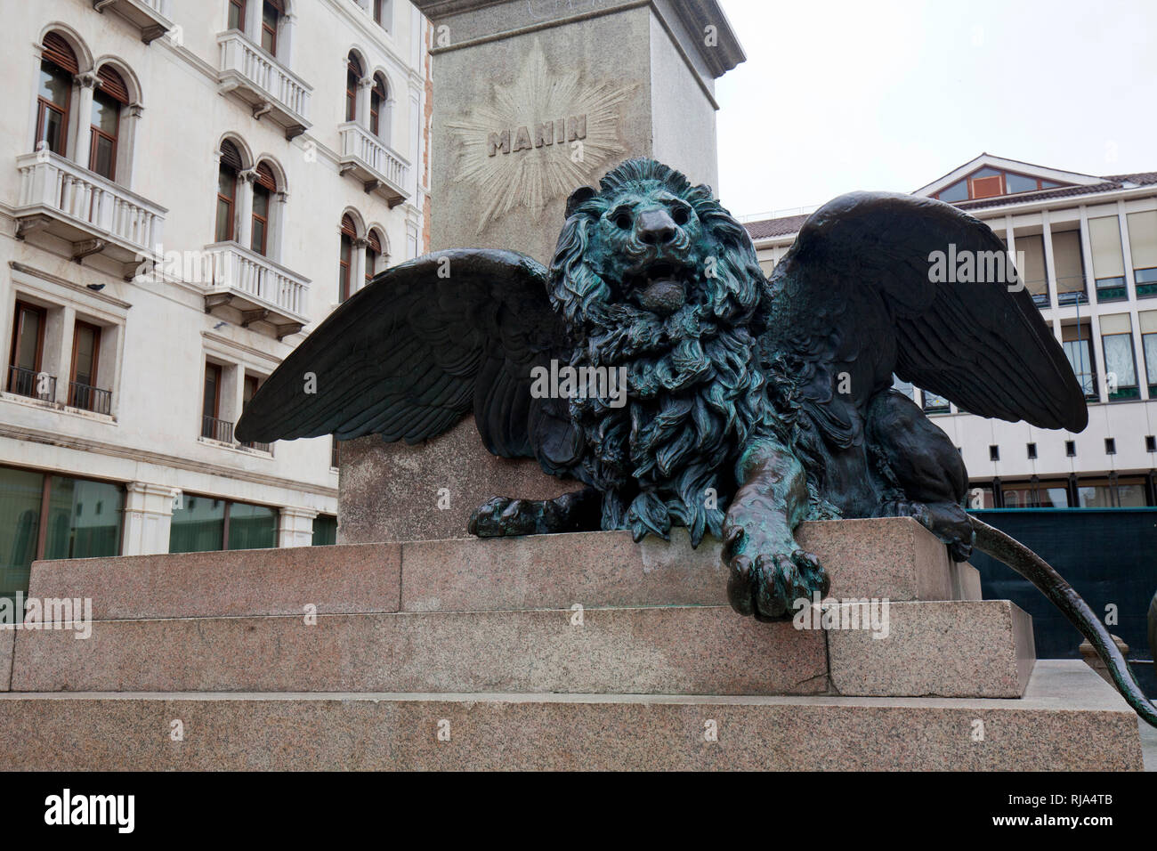Winged lion the symbol of Venice Stock Photo