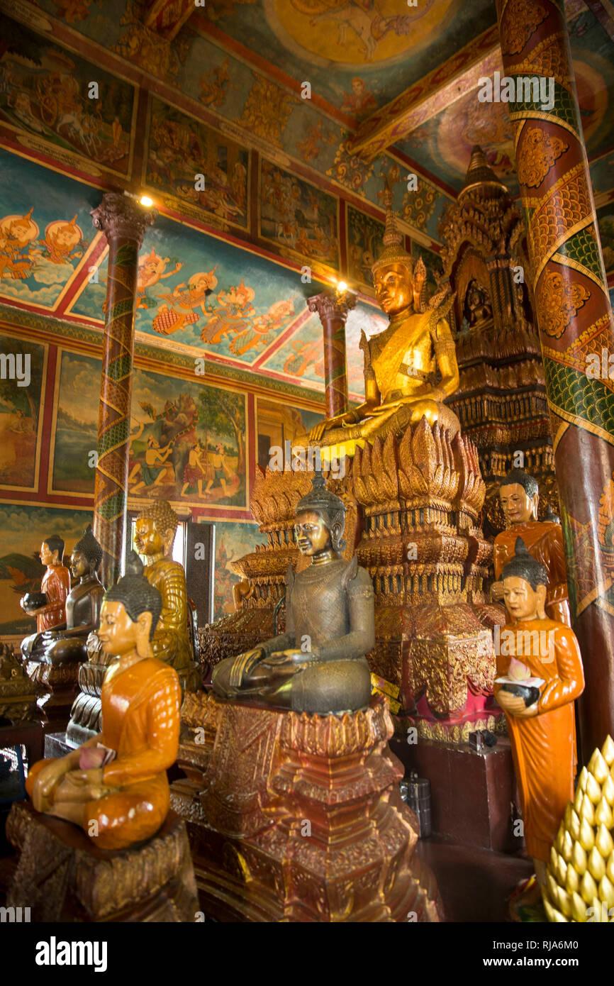 Kambodscha, Phnom Penh, Phnom Daun Penh, ehemalige buddhistische Pagode - Stock Image